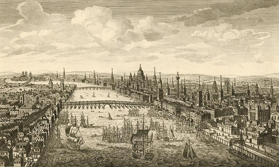 London And The Thames 18th Century Photograph By Miriam