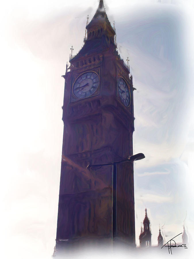 London Digital Art - London Big Ben by Thomas Frias