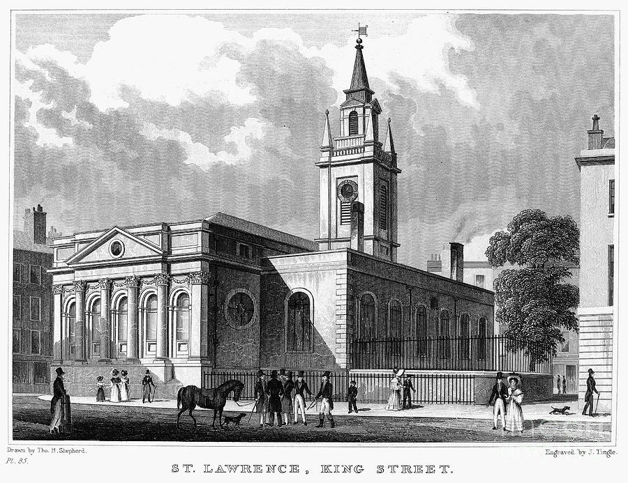 1830 Photograph - London: Church, C1830 by Granger