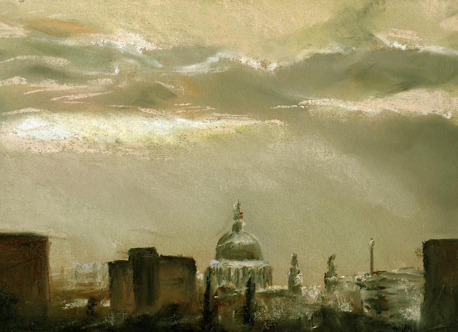 London Pastel - London City Dawn 2 by Paul Mitchell