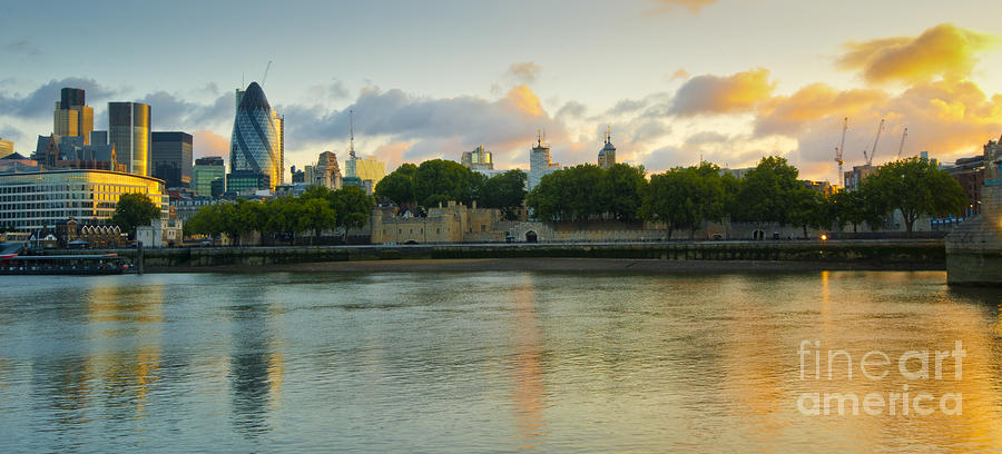 City Photograph - London Cityscape Sunrise by Donald Davis