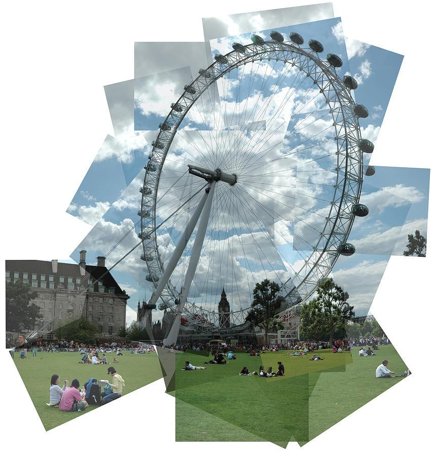 London Photograph - London Eye Panograph by George Crawford