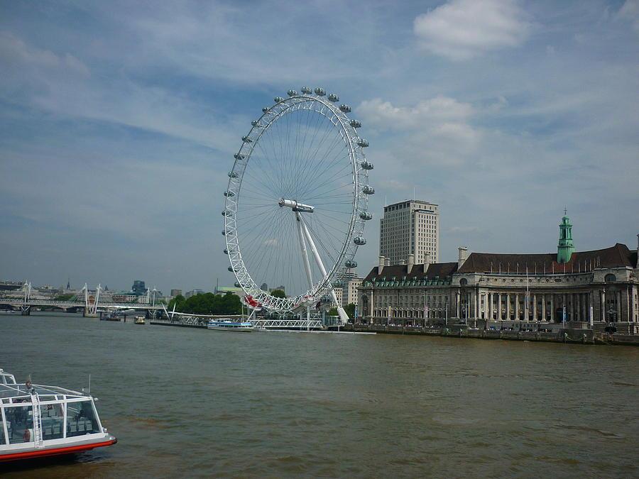 London Eye Photograph - London Eye by Ronald Osborne