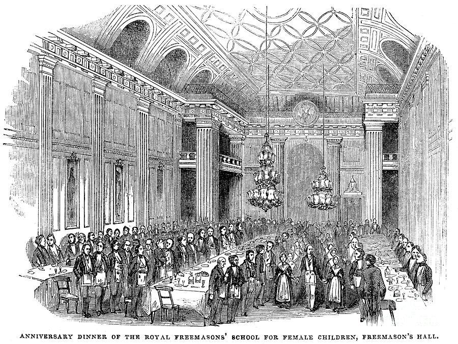 1843 Photograph - London: Freemasons Hall by Granger