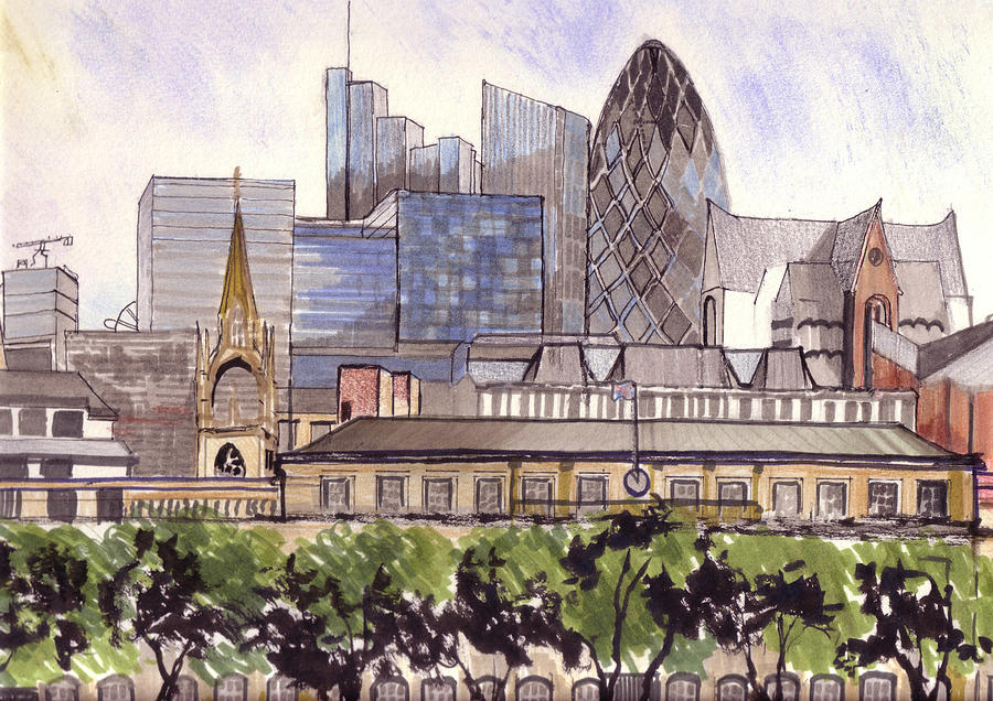 London Mixed Media - London  by Dianne Green