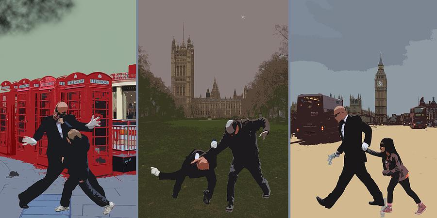 Matrix Photograph - London Matrix Triptych by Jasna Buncic