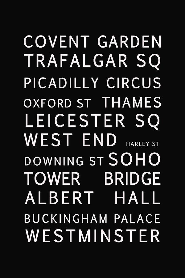 London Digital Art - London by Georgia Fowler