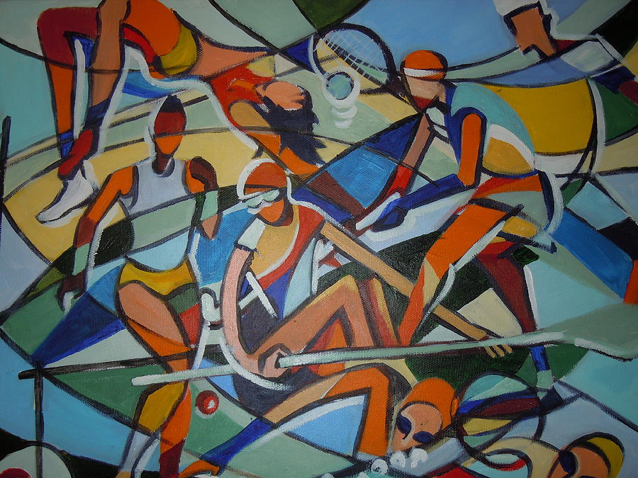 Mural Painting - London Olympics Inspired by Michael Echekoba
