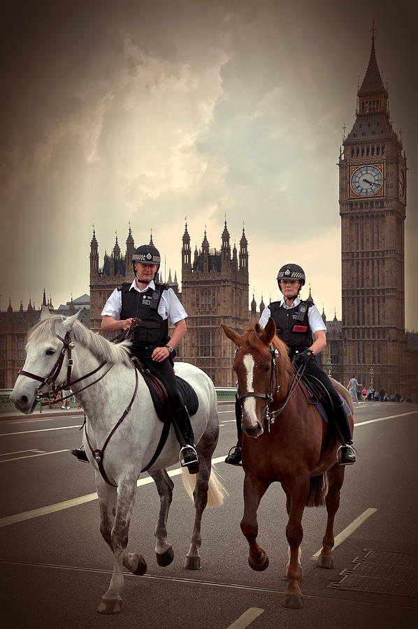 Active Photograph - London Police by Svetlana Sewell