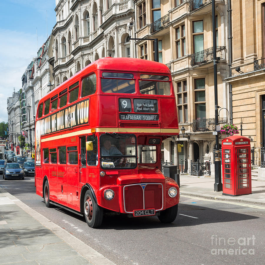 London Red Bus Photograph By Andrew Michael