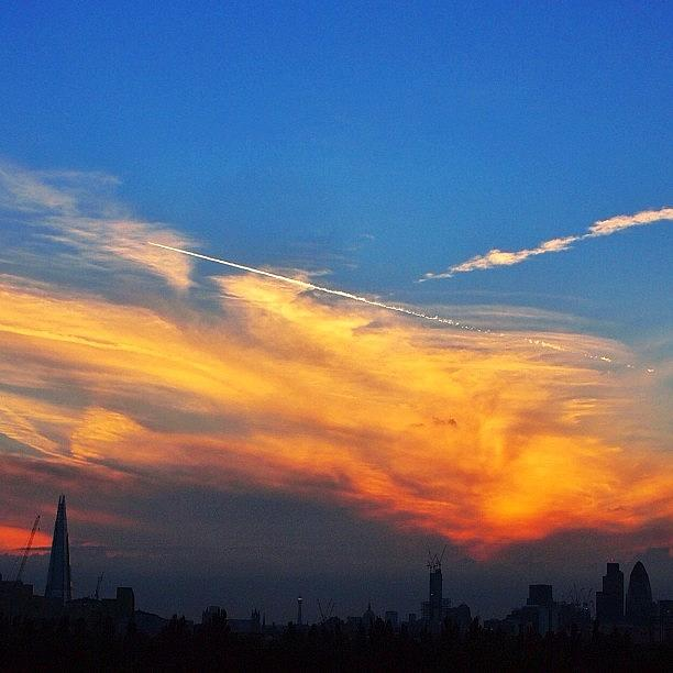 London Photograph - London Skyline : Olympic Sunset #igers by Neil Andrews