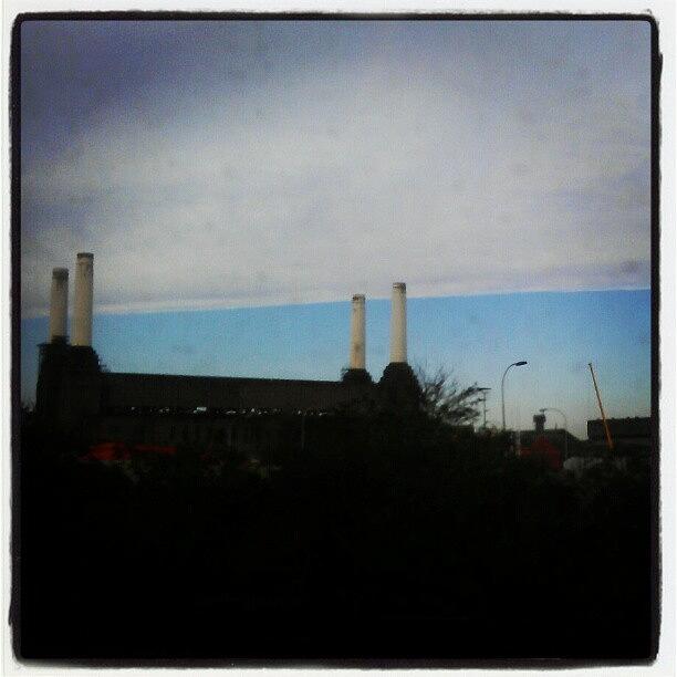 Blue Photograph - #london #skyline #batterseapowerstation by Skye Park