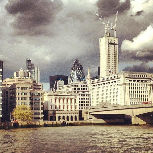 Ominous Photograph - London Skyline, Foreboding. #ominous by Anne Marie