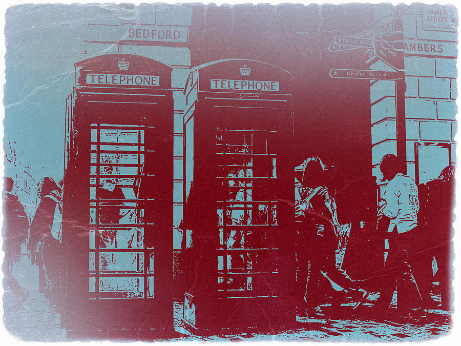 Telephone Photograph - London Telephone Booth by Naxart Studio
