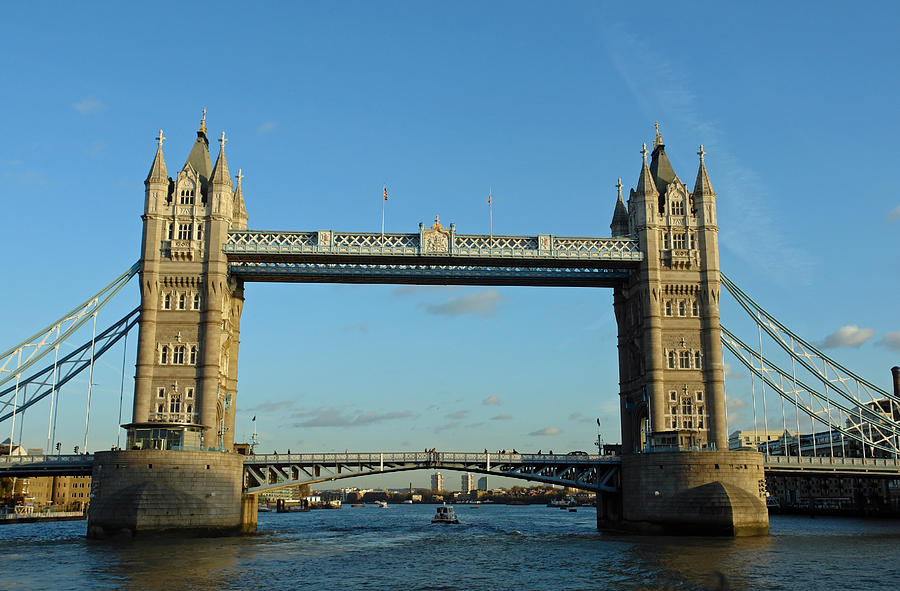 London Photograph - London Tower Bridge Looking Magnificent In The Setting Sun by Ashish Agarwal