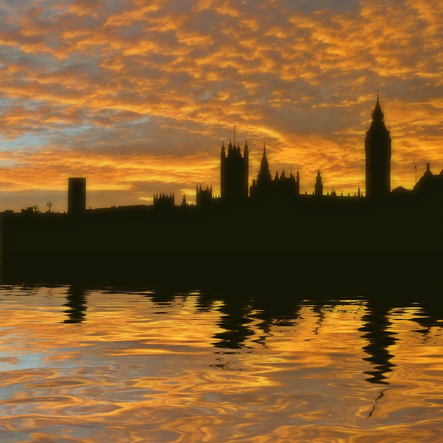 London Photograph - Londons Burning by Sharon Lisa Clarke
