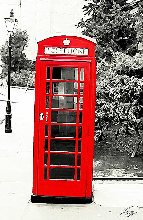 London Mixed Media - Londons Red Booth by ABA Studio Designs