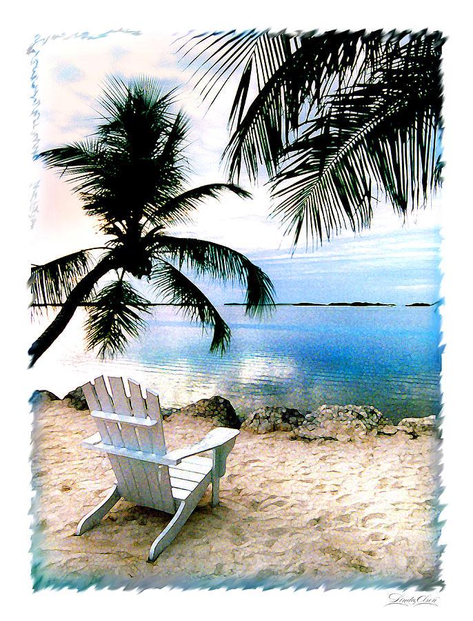 Palms Photograph - Lone Chair Morada by Linda Olsen