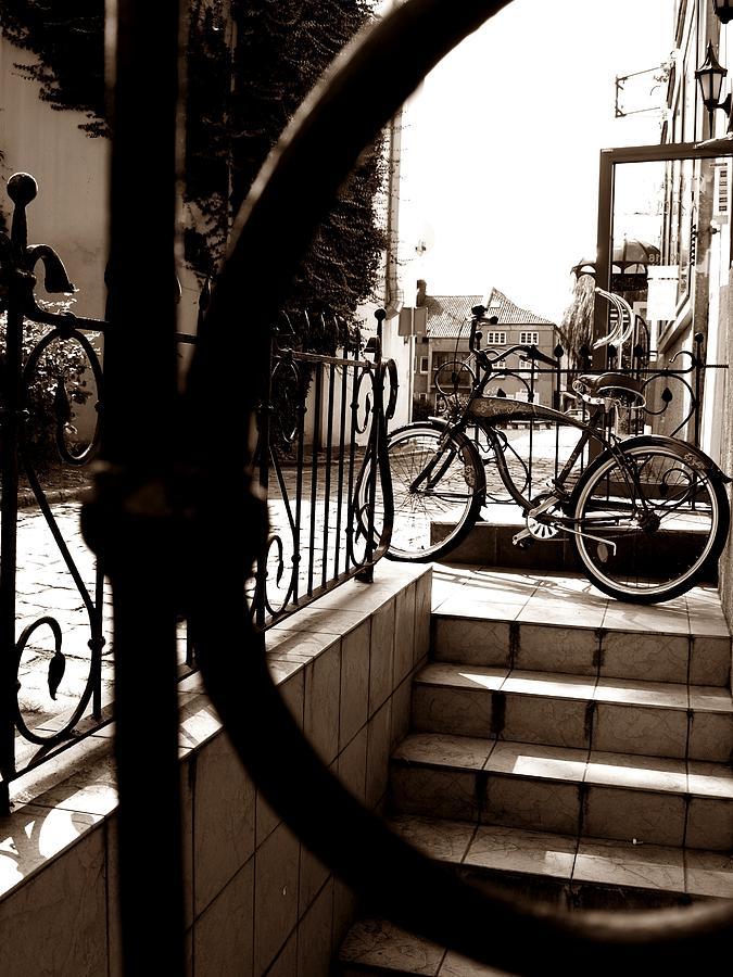 Bike Photograph - Lonely Bike by Birut Ces