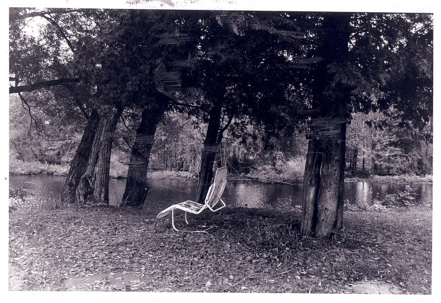 Black And White Photography Photograph - Lonely Chair by Cecelia Taylor-Hunt