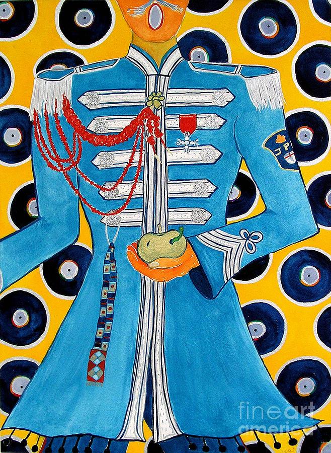 Beatles Painting - Lonely Hearts Club Member Paul by Barbara Nolan