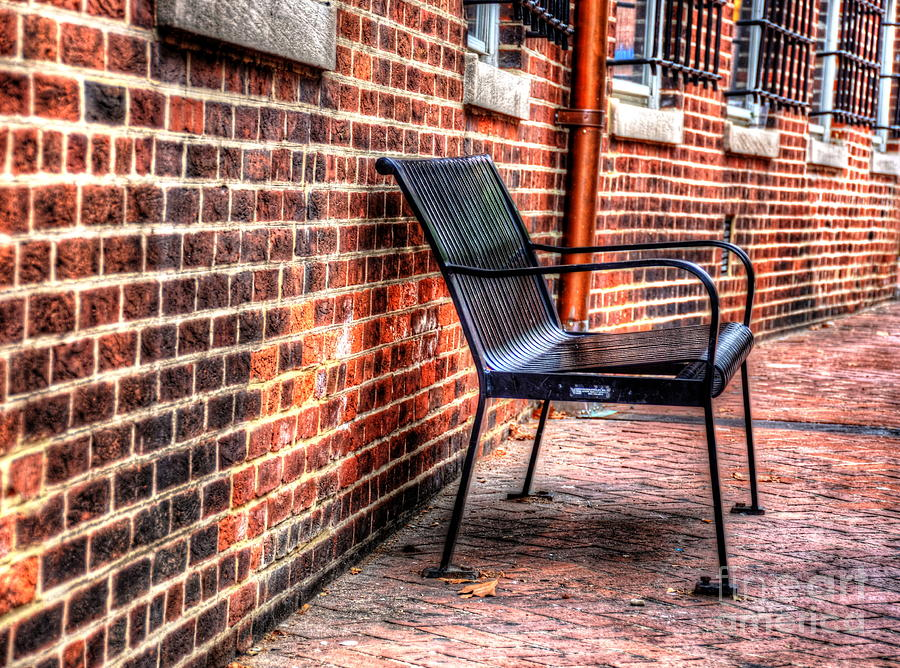 Annapolis Photograph - Lonely Seat by Debbi Granruth
