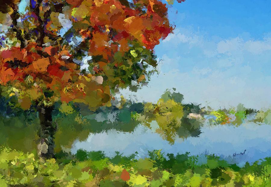 Summer Digital Art - Lonely Tree by Yury Malkov