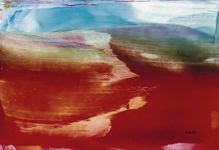 Abstract Painting - Lonesome Road by Susan Kubes