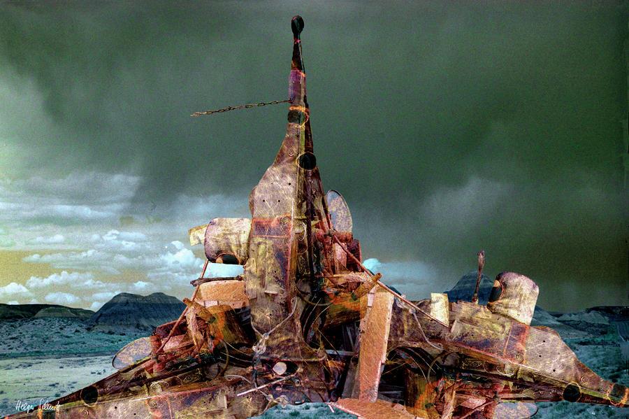 Surreal Digital Art - Lonesome Sculpture by Helga Schmitt