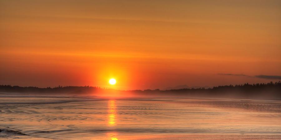 Sunset Photograph - Long Beach Sunset by Matt Dobson