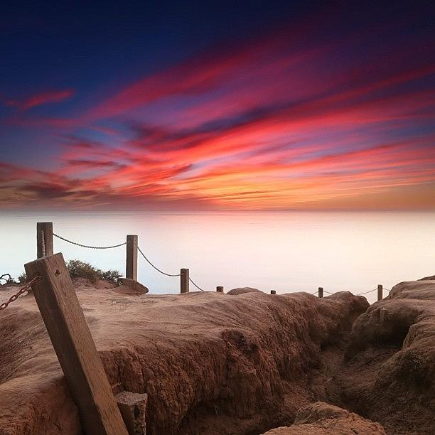 Long Exposure Sunset Taken From The Photograph by Larry Marshall