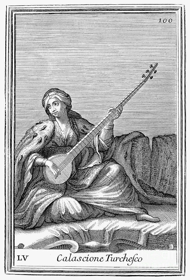 1723 Photograph - Long Lute, 1723 by Granger