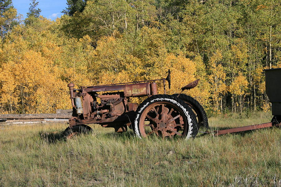 Tractor Photograph - Long Retired by Mark Sacco