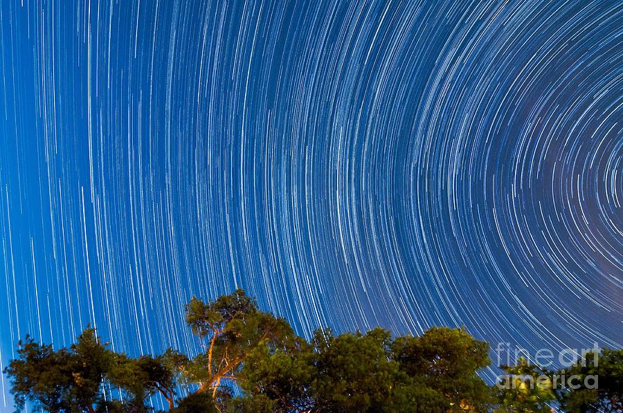 Stars Photograph - Long Trails by Niko Monkkonen