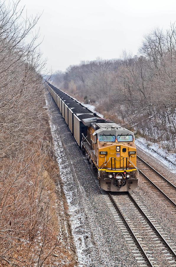 Train Photograph - Long Train Home by Brenda Becker