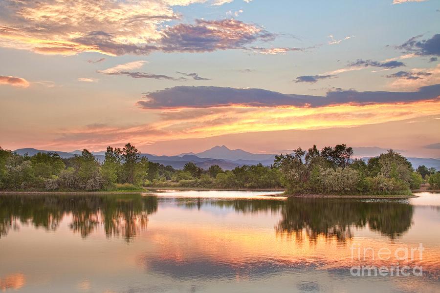 Long Peak Photograph - Longs Peak Evening Sunset View by James BO  Insogna