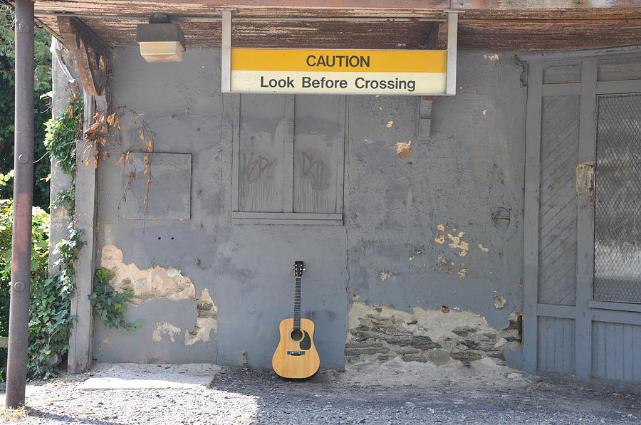 Guitar Photograph - Look Before Crossing by Bill Cannon