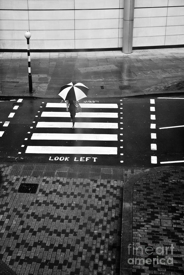 Umbrella Photograph - Look Left by Linda Wisdom