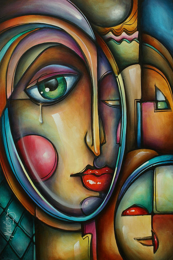 Urban Expressions Painting - Look Two by Michael Lang