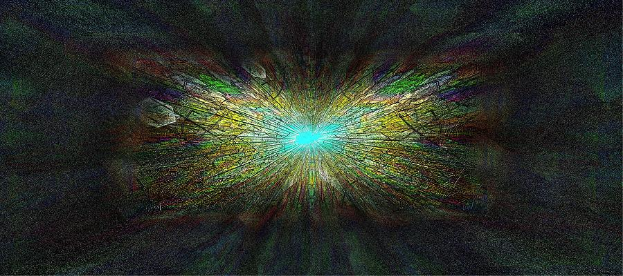 Abstract Digital Art - Look Up by Tim Allen