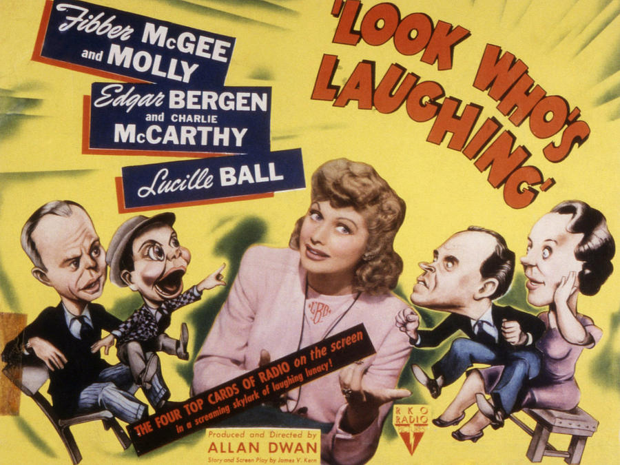 1940s Movies Photograph - Look Whos Laughing, Edgar Bergen by Everett