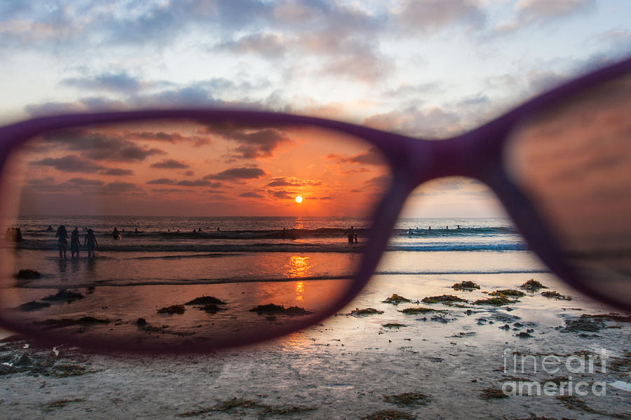 Beach Photograph - Looking At Life Through Rose Colored Glasses by Sonny Marcyan