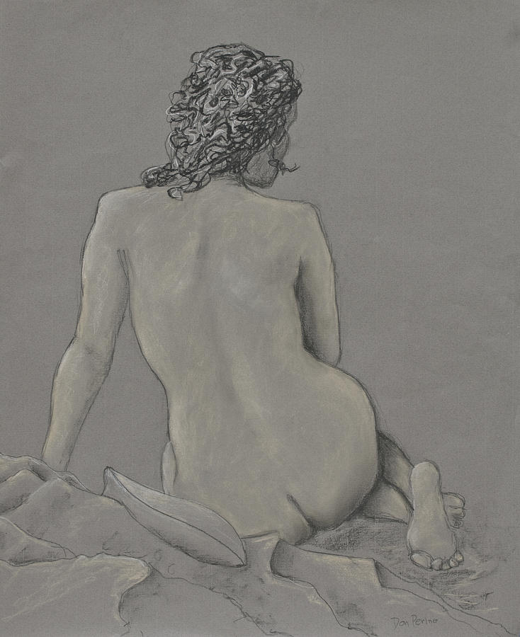 Nude Drawing - Looking Away by Don Perino