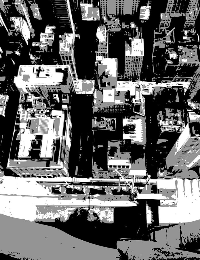 Empire State Building Photograph - Looking Down Bw3 by Scott Kelley