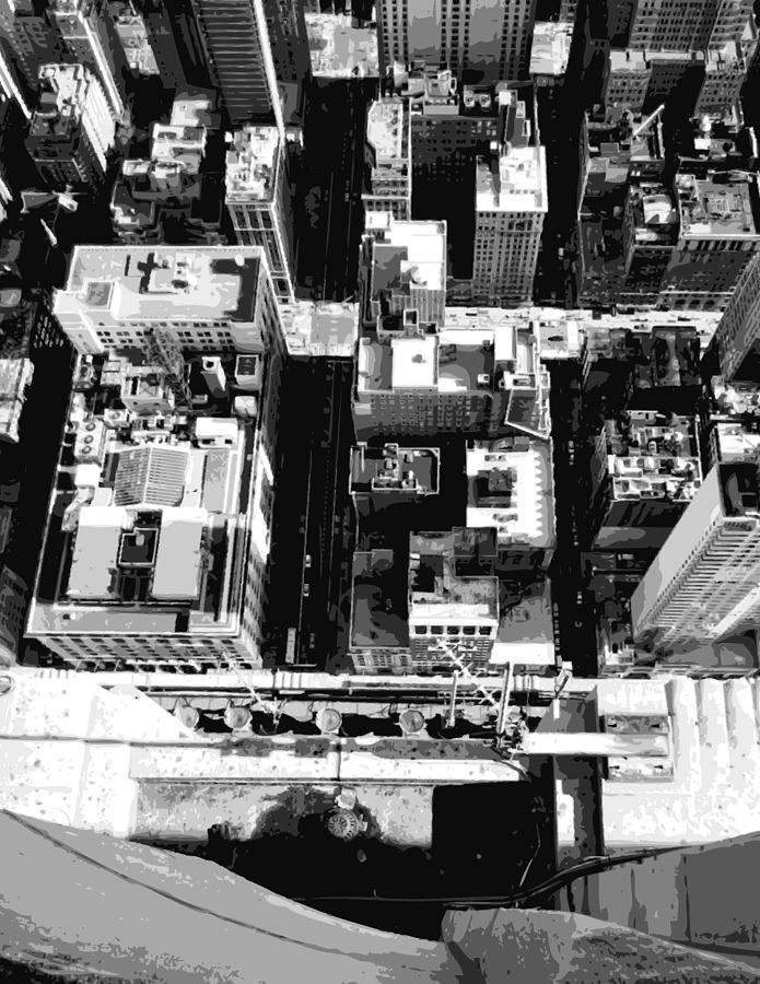 Empire State Building Photograph - Looking Down Bw8 by Scott Kelley