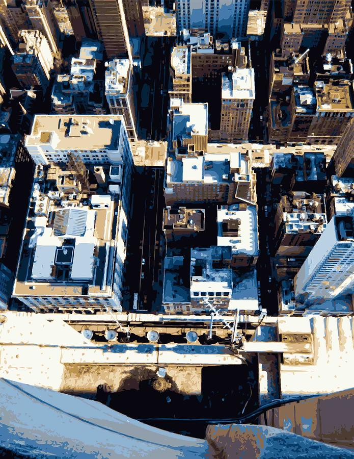 Empire State Building Photograph - Looking Down Color 16 by Scott Kelley