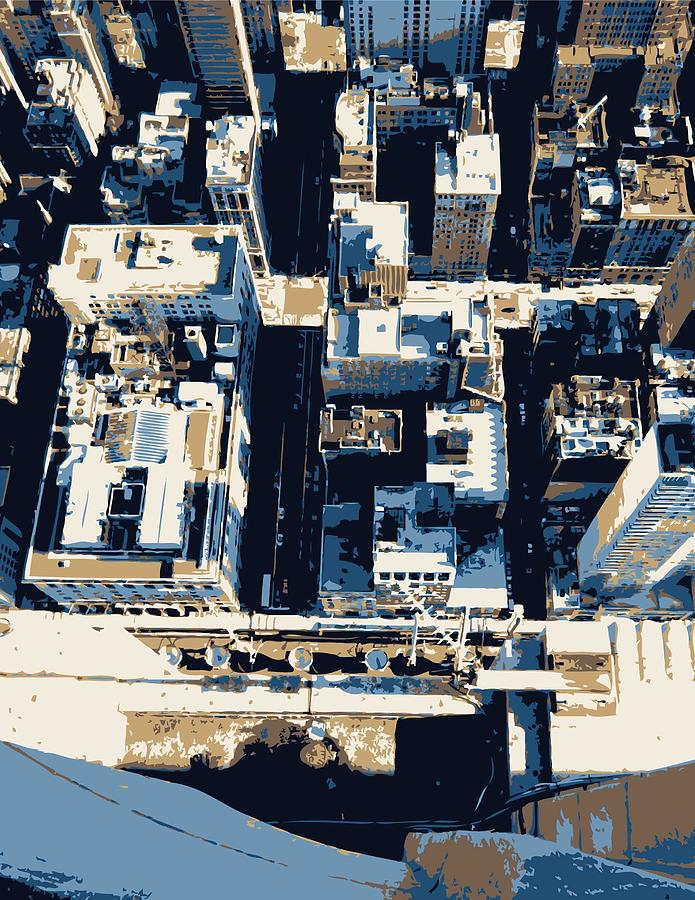Empire State Building Photograph - Looking Down Color 6 by Scott Kelley