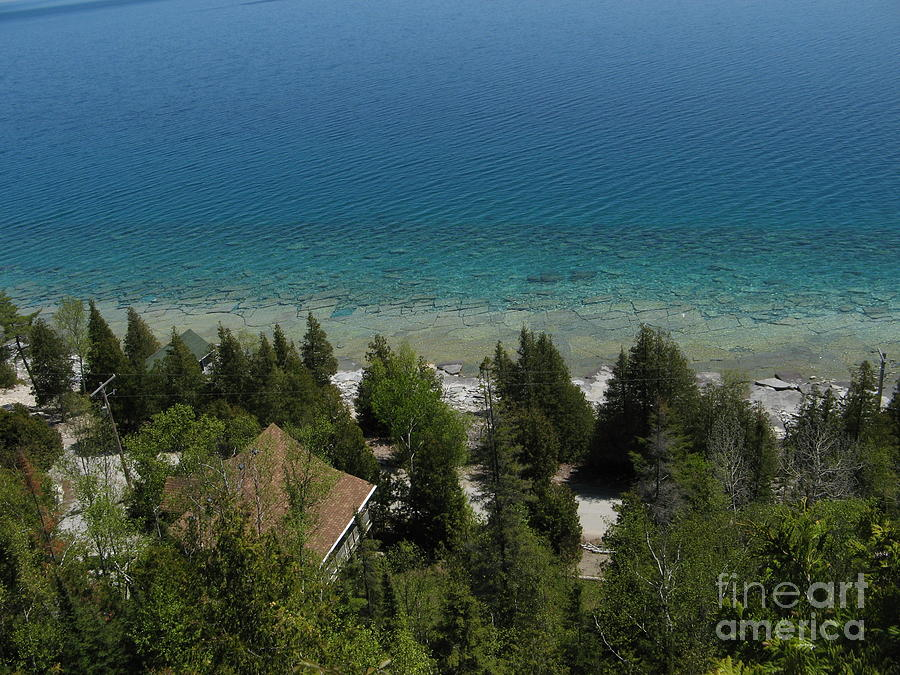 Landscape Photograph - Looking Down On Dyers Bay by Donica Abbinett