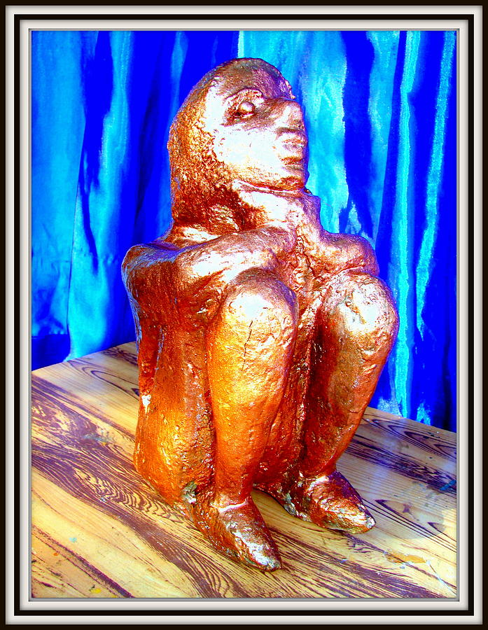Sculptures Sculpture - Looking For A Daily Wage by Anand Swaroop Manchiraju