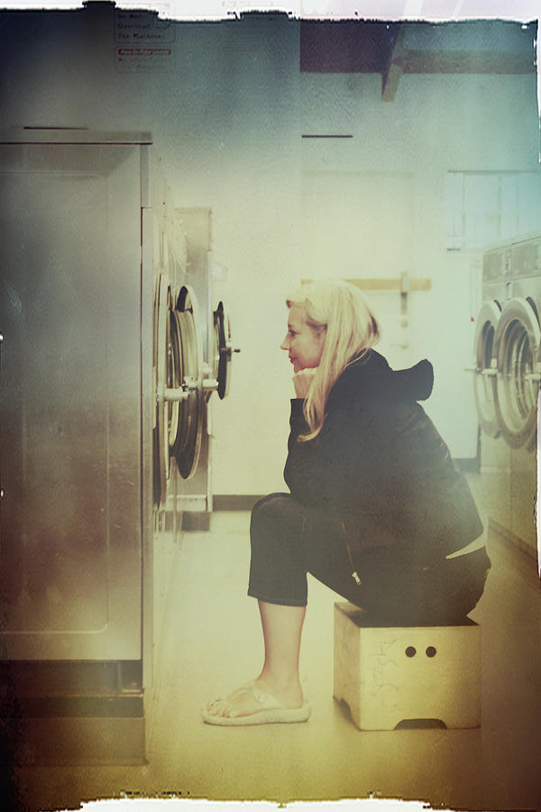 Laundry Mat Photograph - Looking For Answers In All The Wrong Places by Laurie Search